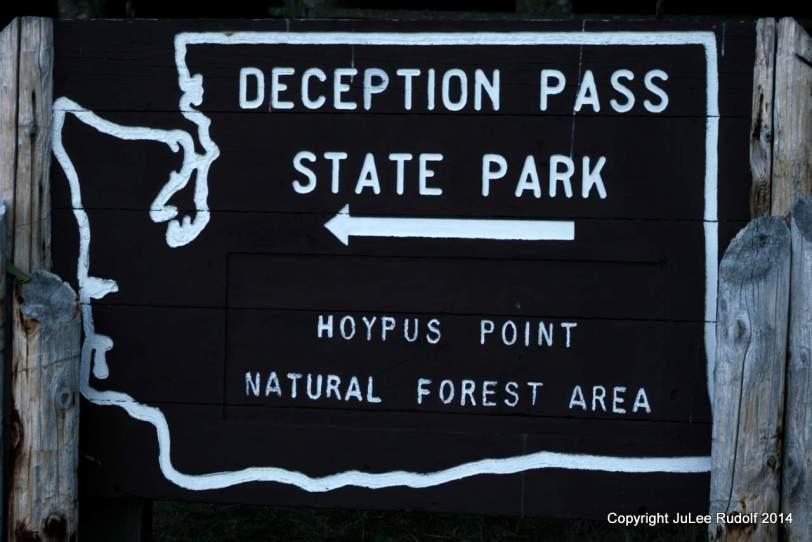 Sign near trail head