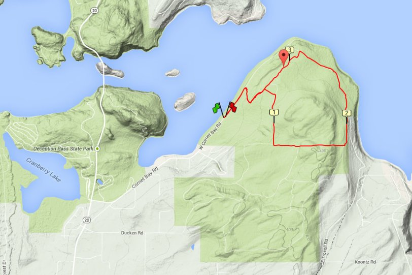 Cornet Bay short trail run or hike