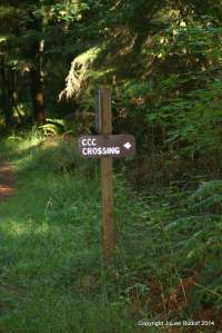 Go left onto CCC Crossing.