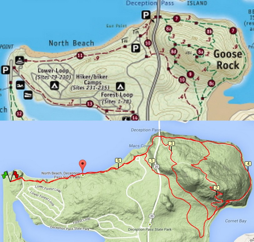 Trail Running Or Hiking At Deception Pass State Park