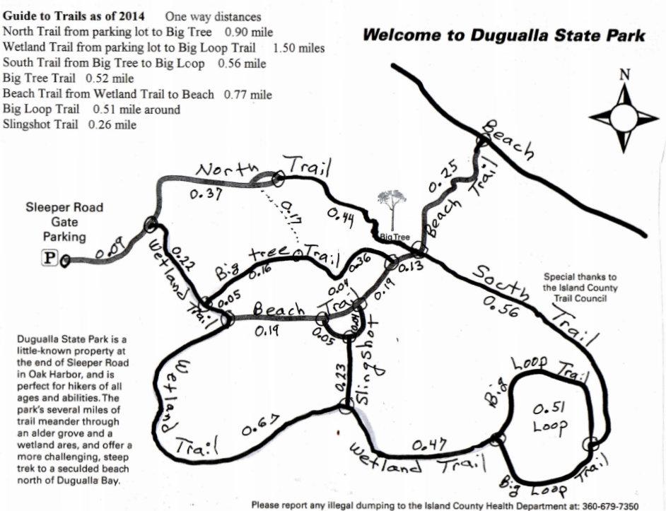 Dugualla Bay State Park Map