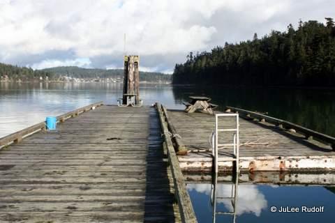 Empty dock at Cornet Bay