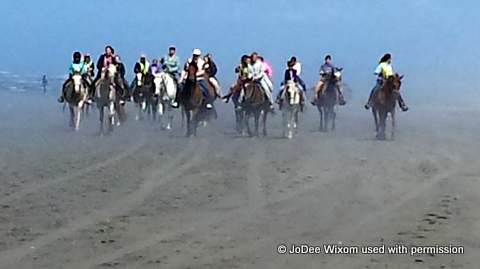 Horseback riders at Ocean Shores