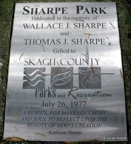 Dedication plaque at Sharpe Park