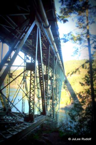 Deception Pass Bridge from Goose Rock Trail