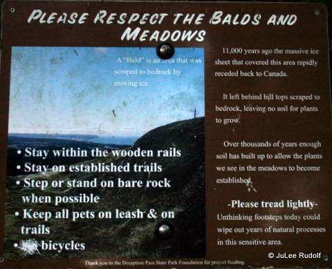 Informational sign along the Summit Trail