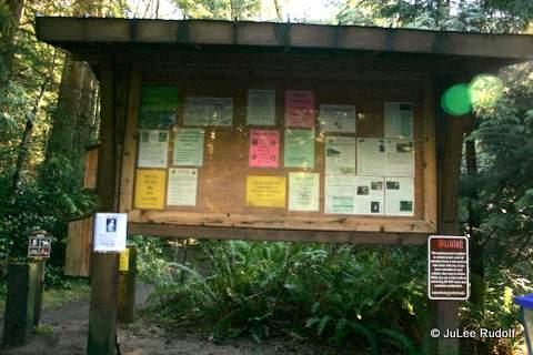 Information kiosk near the 215 Trail head