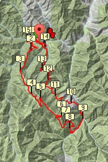 Red Devil Trail Run 25K course