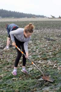 clamming at Ala Spit