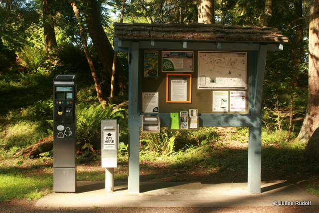 South Whidbey State Park kiosk