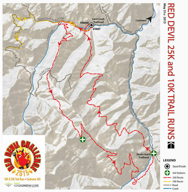 Red Devil Trail Run flyer