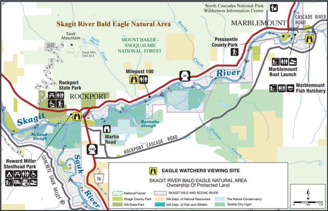Skagit River Bald Eagle Natural Area Map